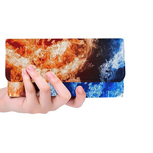 Unique Custom Popular D Ice Cream Wallpaper Buy Cheap D Ice Cr Women Trifold Wallet Long Purse Credit Card Holder Case Handbag