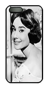 Audrey Hepburn Black PC Phone Case for iPhone 5 5S