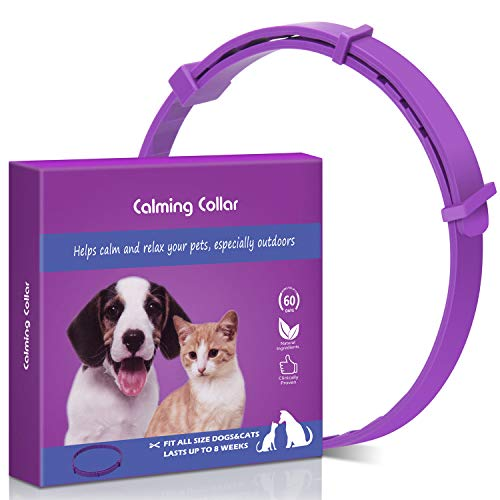 Tyhocent Calming Collar for Cats and Dogs with Appeasing Effect, Adjustable Relieve Reduce Anxiety Pheromone Keep Pet Lasting Natural Calm (24 Inch for Dogs)