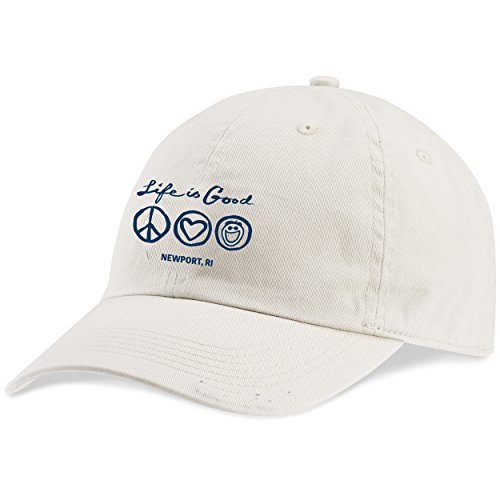 Life is Good. Newport Chill Cap Newport 3 Badges - Bone White
