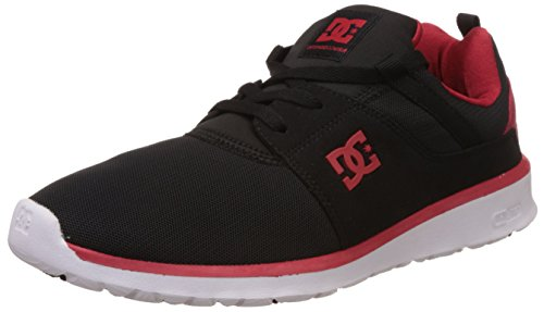 Mens DC Shoes Heathrow Sport Low Top Skate Shoes Lightweight Sneakers - Black/Red - 9