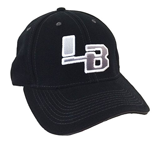 (LB Mesh Embroidered Logo Black Baseball Hat (S/M))