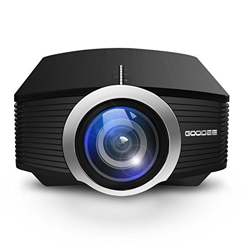 Home Cinema Projector, GooDee Efficiency Portable Projector Support 1080P Mini Video Projector Ideal for Home Theatre
