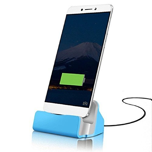 Price comparison product image I-Sonite (Blue) Desktop Charger USB Micro-USB Base Stand Data Sync Charging Docking Station For Zte Blade A2 Plus