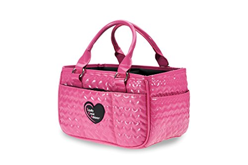 Heart Pink Ice - TGA Glossy Hot Pink Heart Ice Skating Bag Tennis Gym and Ballet Girls Athletic Bag