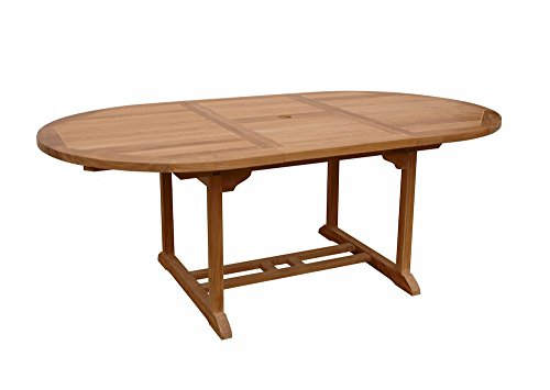 Anderson Teak Bahama Oval Extension Table Extra Thick Wood, 71-Inch -