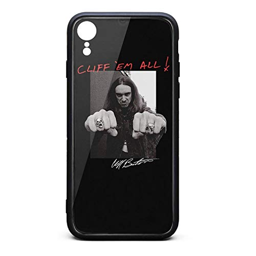 TPU Case for Apple iPhone XR Soft Rubber Case with Hard PC Back Shell Shock Absorption Bumper Cover SLIN-Metal Rock Poster ()