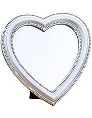 BinaryABC Heart Makeup Mirror Cosmetic Mirror Wall Desktop Mirror Bedroom Mirror