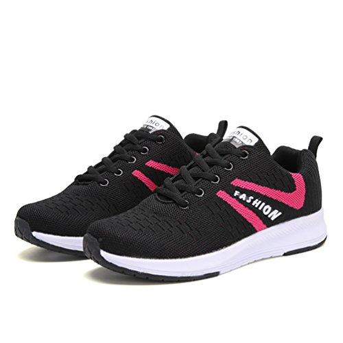 スニーカー 運動靴 レディース レースアップシューズ 大きいサイズ(25cmまで) ウォーキングシューズ ランニング 通気性 軽量 防滑 厚底 クッション性 疲れない 歩きやすい 通学 スポーツ 黒 灰色