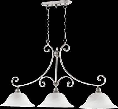 Quorum Bryant 3 Light Island Light in Classic Nickel