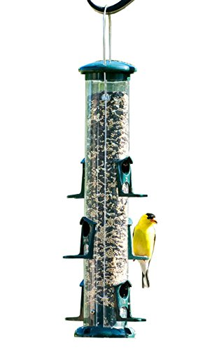 BestNest Audubon Seed Tube Bird Feeder, Green, 15