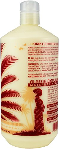 Alaffia - EveryDay Coconut - Hydrating Body Lotion, Purely Coconut -32 oz 5 100% FAIR TRADE: Feel good about how you are getting your products with 100% Certified Fair Trade Ingredients. LIGHTWEIGHT HYDRATION: Our Certified Fair Trade virgin coconut oil absorbs quickly, providing light-weight yet deep hydration for smooth and silky skin. COCONUT WATER MOISTURIZES AND NOURISHES: Made with essential amino acids, vitamins and minerals while the antioxidant-rich coffee berry extract helps to protect the skin from free radical damage.
