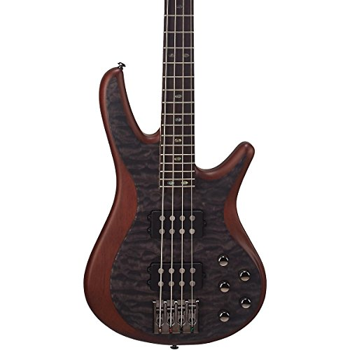 (Mitchell FB700 Fusion series bass guitar with active EQ Level 1 Transparent)