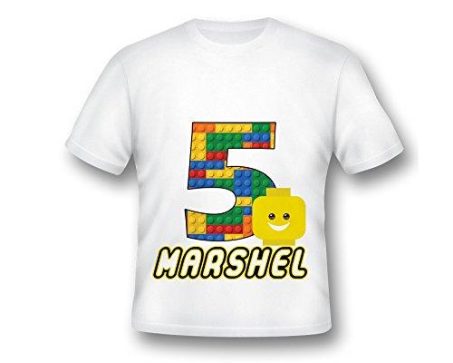 Custom Birthday Building Block Head Emoji Birthday T-Shirt, Emoji Tee Shirt, Printed Emoji Shirt, White Emoji TShirt, Birthday Shirt, Emoji Custom Shirt, Custom - The To Orange Of Directions Block