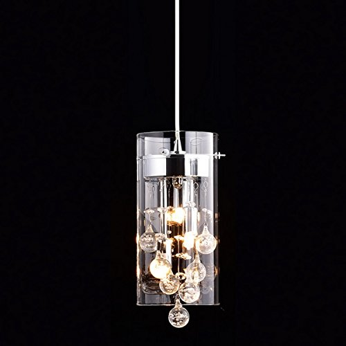 Truelite Modern G9 Glass Pendant Crystal Hanging Light Fixture - Contemporary Lighting Fixture Modern Hanging