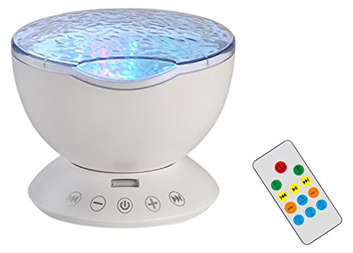 HXY OJ304050 Ocean Wave Night Light Projector with Remote...