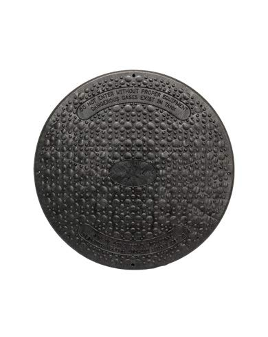 Jackel Black 24 Inch Diameter Septic Tank Riser Cover (Model: SFRC24B) by Jackel