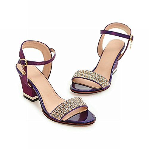 Mee Shoes Damen chunky heels open toe Sandalen Lila