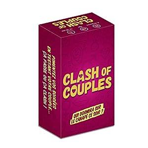 Clash of Couples – Jeu de Cartes Couples – Jeu de société Adulte – Idéal cadeau de Mariage, de Saint Valentin, de Noël…