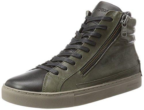 CRIME London Herren 11337a17b Hohe Sneaker Grün (Oliv)