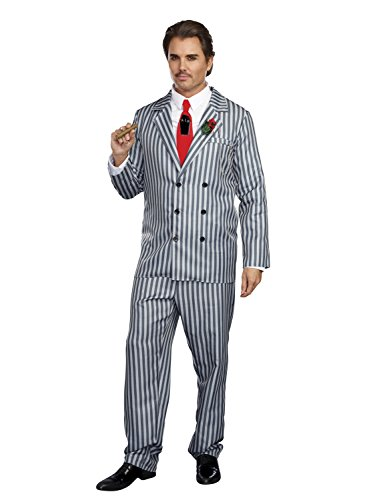 [Dreamgirl Men's Mr. Fright, Multi, XL] (Addams Family Girl Halloween Costume)