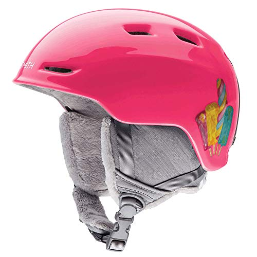 Smith Optics Youth Zoom Jr Ski Snowmobile Helmet - Pink Popsicles/Youth Medium (Jr Ski Snowboard Goggles)