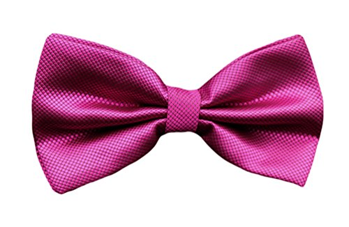 Pre Tie Bow Dress Color Plaid Check Tuxedo Solid Men's MENDENG Formal Ties Fuchsia tied BYwCqZBTx