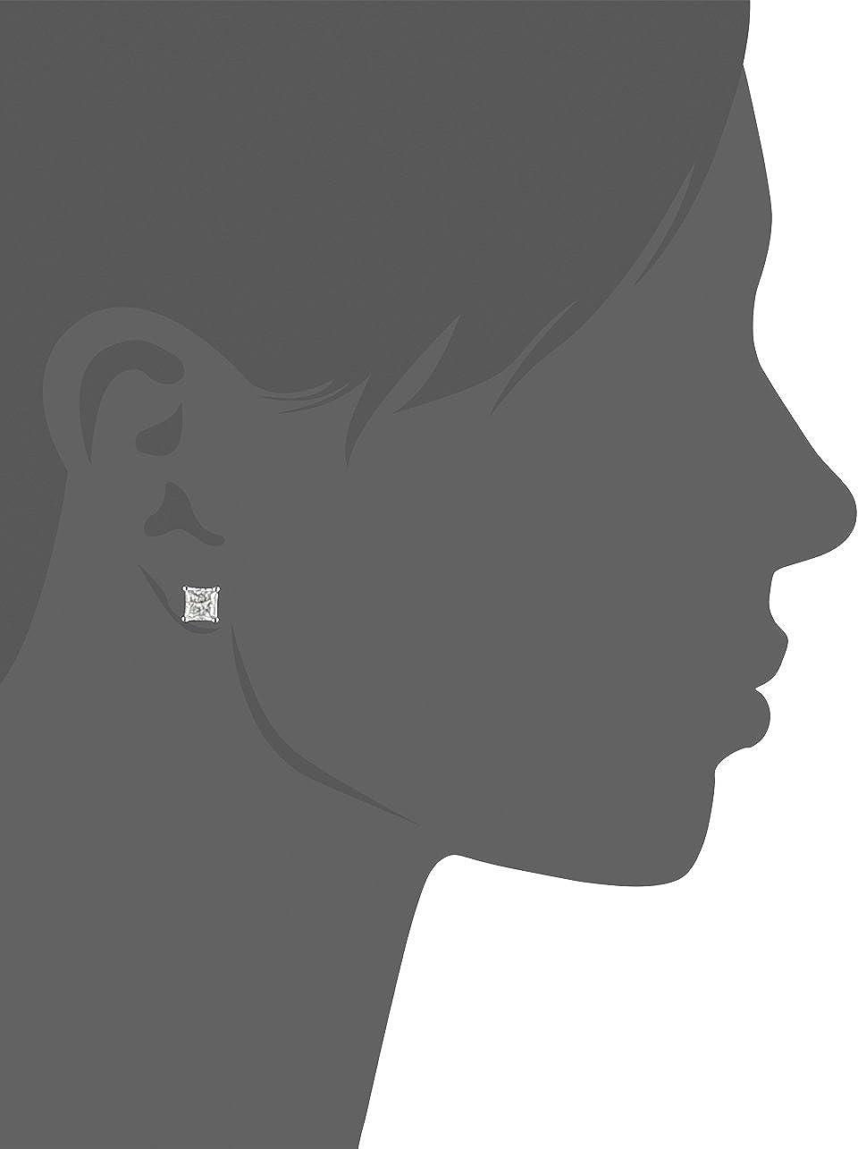 IGI Certified Platinum, Princess-Cut, Diamond 4-Prong Stud Earrings 2 cttw, G-H Color, VS2 Clarity