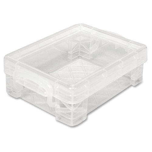 Advantus Case (Super Stacker Crayon Box, 3.5 x 4.75 x 1.5 Inches, Clear, 1 Box (40311))