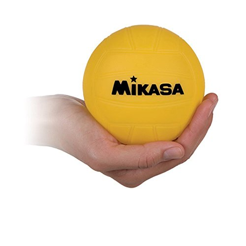 Mikasa 4-inch Mini Promotional Water Polo Ball, Soft Cover-Yellow -