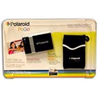 Polaroid Pogo Instant Digital Mobile Printer + 40 Sheets of Zink Paper & Case BUNDLE (Black)