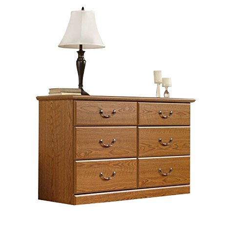 Sauder 401410 Orchard Hills Dresser, L: 50.87'' x W: 16.81'' x H: 30.08'', Carolina Oak finish by Sauder
