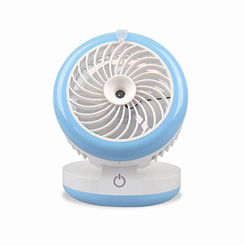 RCLITE Portable Misting Mini USB Fan with Personal Coolin...