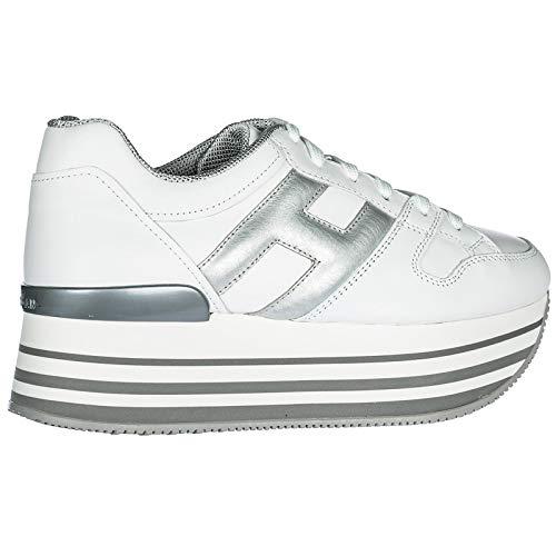 Blanc H222 Baskets Cuir en Femme Sneakers Chaussures Hogan qxT0vx