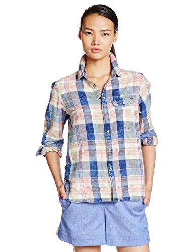Donna 6401 Check indigo 1pkt Wmn Camicia Multicolore star G Bf Red L pompeian Tacoma Shirt qw6vf1O8