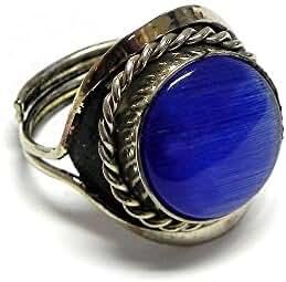 Round Cat's Eye Gemstone Ring