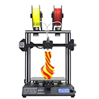 GEEETECH A20M 3D Printer with Mix-Color Printing, Integrated Building Base & Dual extruder Design, Filament Detector and Break-resuming Function, 255×255×255mm³, Prusa I3 Quick Assembly DIY kit.