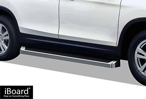 - APS iBoard (Silver Running Board Style) Running Boards | Nerf Bars | Side Steps | Step Rails for 2016-2019 Honda Pilot Sport Utility 4-Door