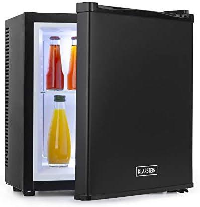 Klarstein Secret Cool Mini-Kühlschrank Mini-Bar, EEK A+, 13 Liter, 45 cm Höhe, 0 dB, Lautlos, Geräuchlos, Kühlbereich: 5-8 °C, freistehend, Getränkekühlschrank, Minibar, schwarz