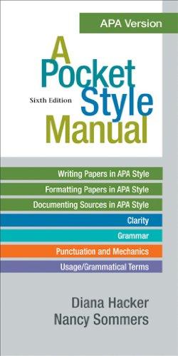 Download A Pocket Style Manual, APA Version Pdf