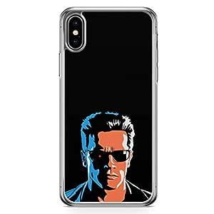 Loud Universe Movie Arnold Terminator iPhone XS Case Retro Movie iPhone XS Cover with Transparent Edges
