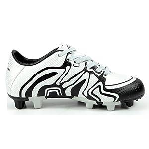 DREAM PAIRS Big Kid 160472-K Silver Black White Soccer Football Cleats Shoes - 4 M US Big Kid