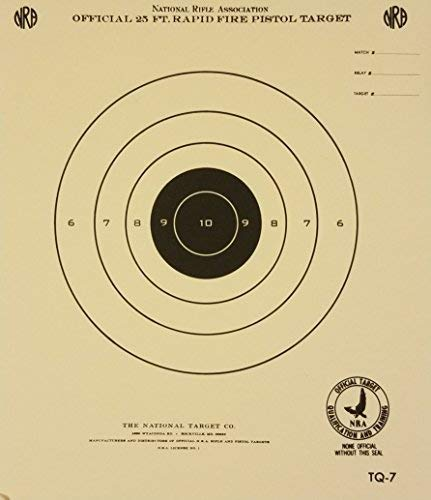 (Official NRA Target, TQ-7, 25 Ft. Timed and Rapid Fire Pistol Target, Pack of 100)