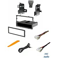 ASC Audio Car Stereo Dash Install Kit and Wire Harness for installing an Aftermarket Single Din Radio for Select Acura Honda Vehicles - Compatible Vehicles Listed Below