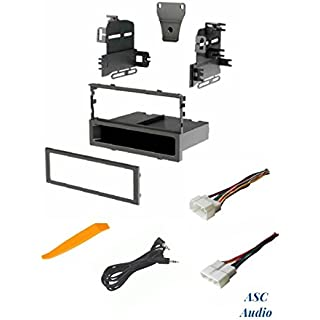 Discount ASC Audio Car Stereo Dash Install Kit and Wire Harness for installing an Aftermarket Single Din Radio for Select Acura Honda Vehicles - Compatible Vehicles Listed Below