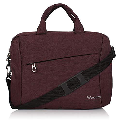 Wooum 15.6 inch Casual Laptop Briefcase, Notebook Briefcase Shoulder Office Laptop Bag Messenger Bag Business Carrying…