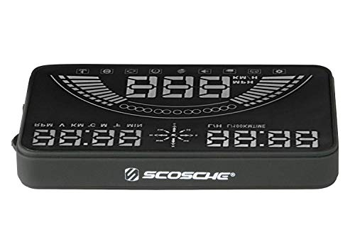 "Scosche HUD58OGC 5.8"" Heads-up Multi-Color LED Display for Any Vehicle with an OBD-II Or 12V Power Socket"