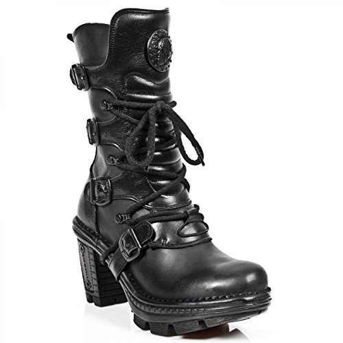 New Rock Støvler M.neotr005-s8 Gotiske Hardrock Punk Dame Stiefel Sort IWSxm9at