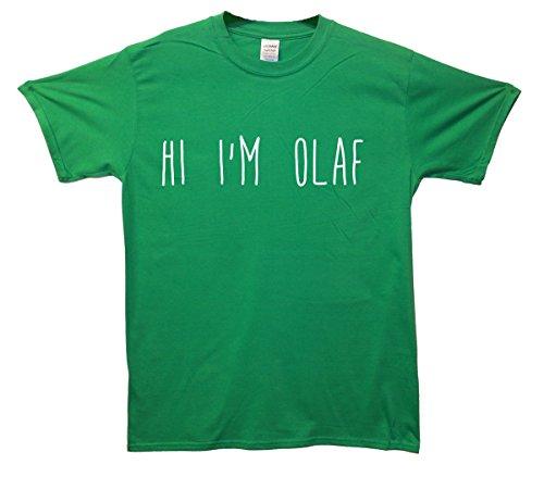 Hi I'm Olaf T-Shirt - Grün - Small (86cm-91cm)