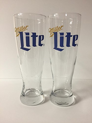 Miller Lite - 23oz Pilsner Glass - Retro Design - 2 ()